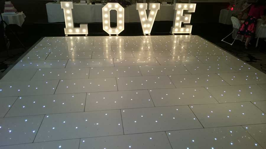 DBX Events LED Dancefloor Hire - How to make a lighted dance floor